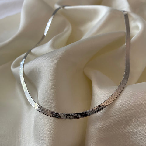 lisa herringbone chain - SILVER