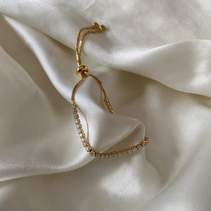 avery tennis bracelet - GOLD