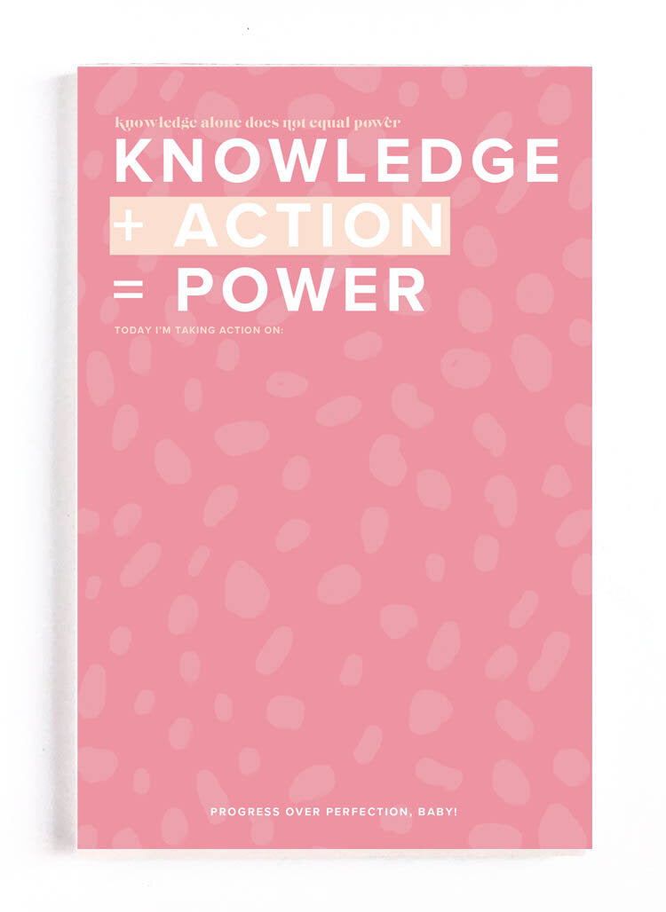 Knowledge + Action = Power Notebook