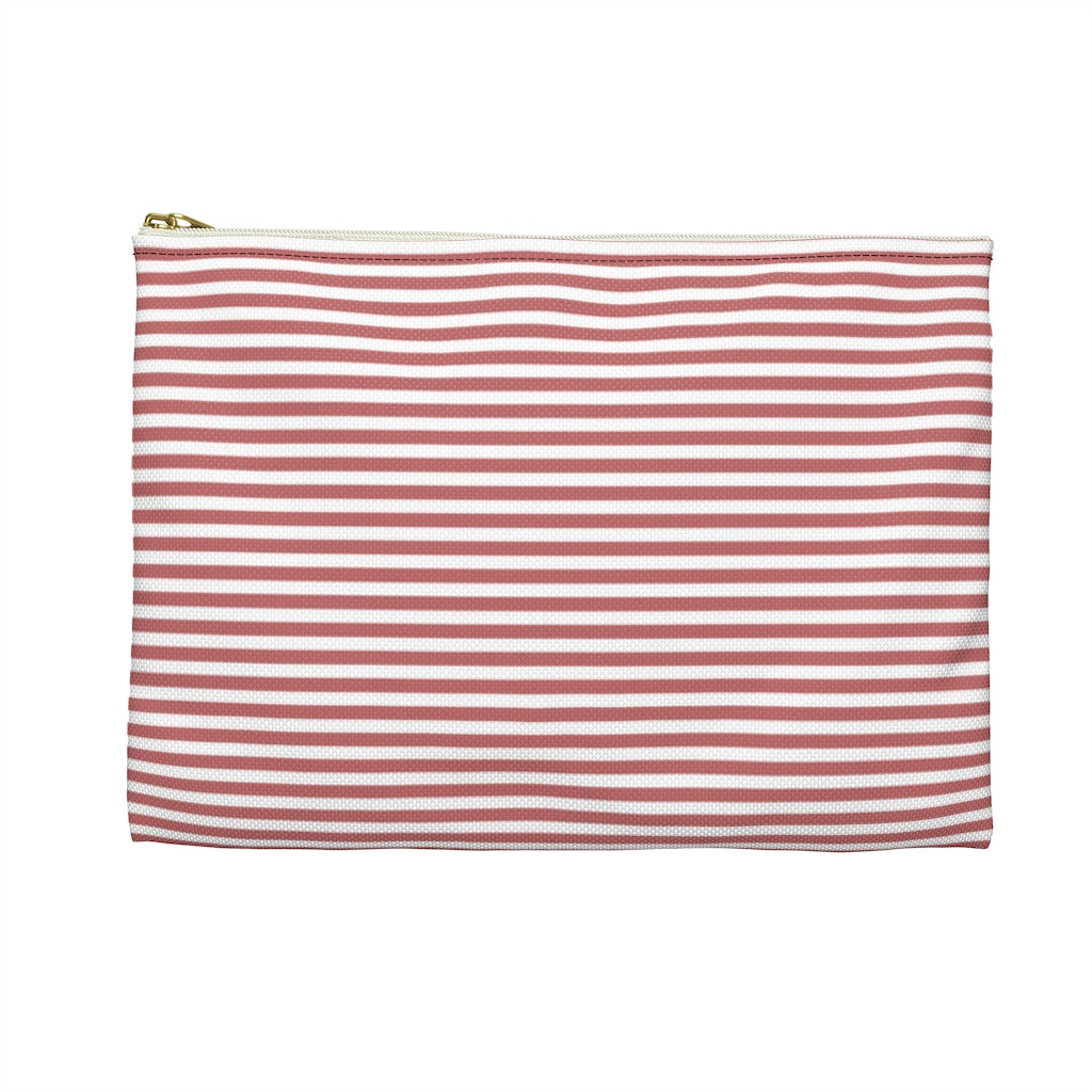 Mauve Stripes Seamed Pouch