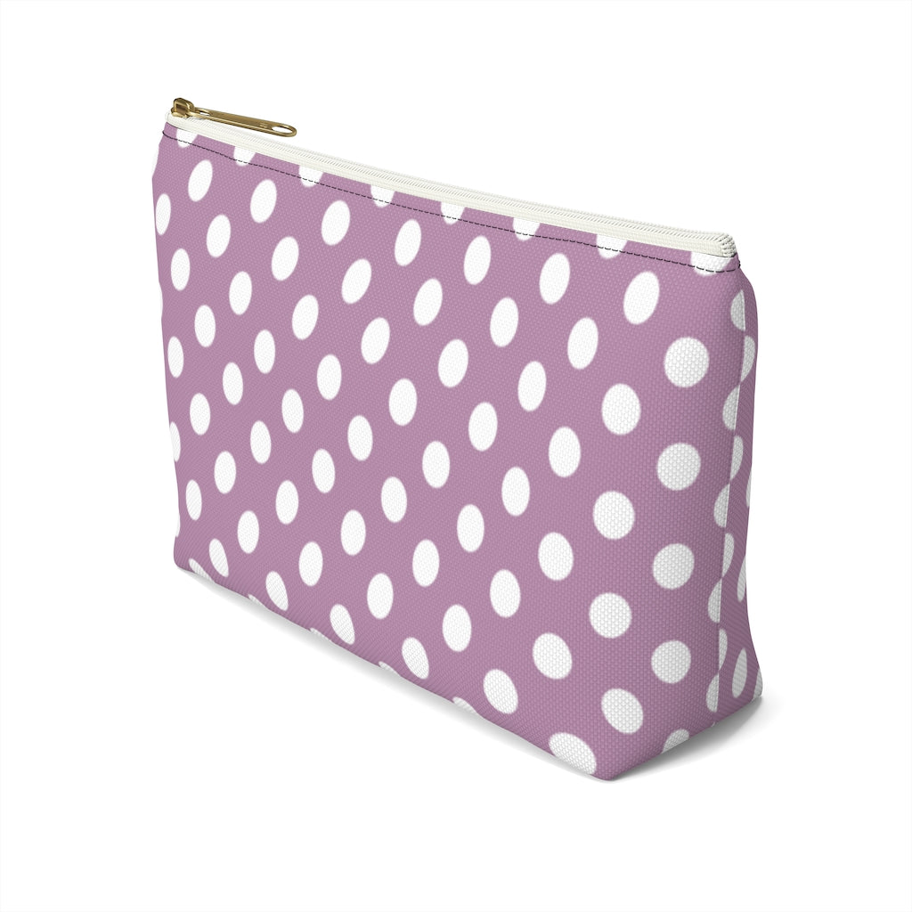 Lilac Dots T-Bottom Pouches