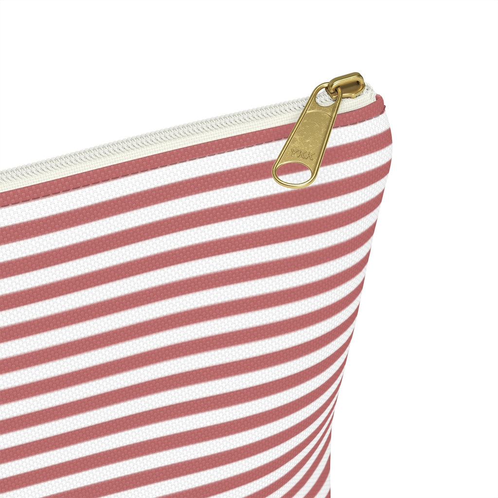 Mauve Stripes T-Bottom Pouches