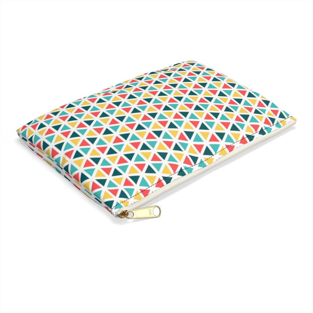 Bright Geometric Pouch
