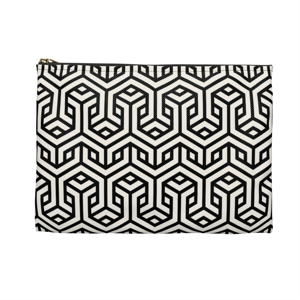 Black Interlace Pouch