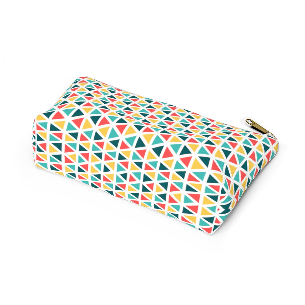 Bright Geometric T-Bottom Pouches