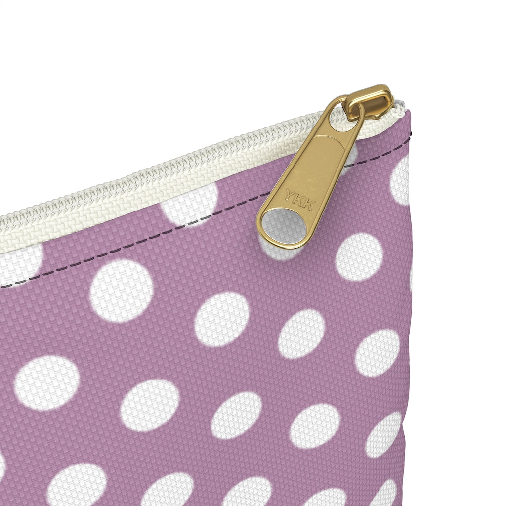 Lilac Dots Seamed Pouch