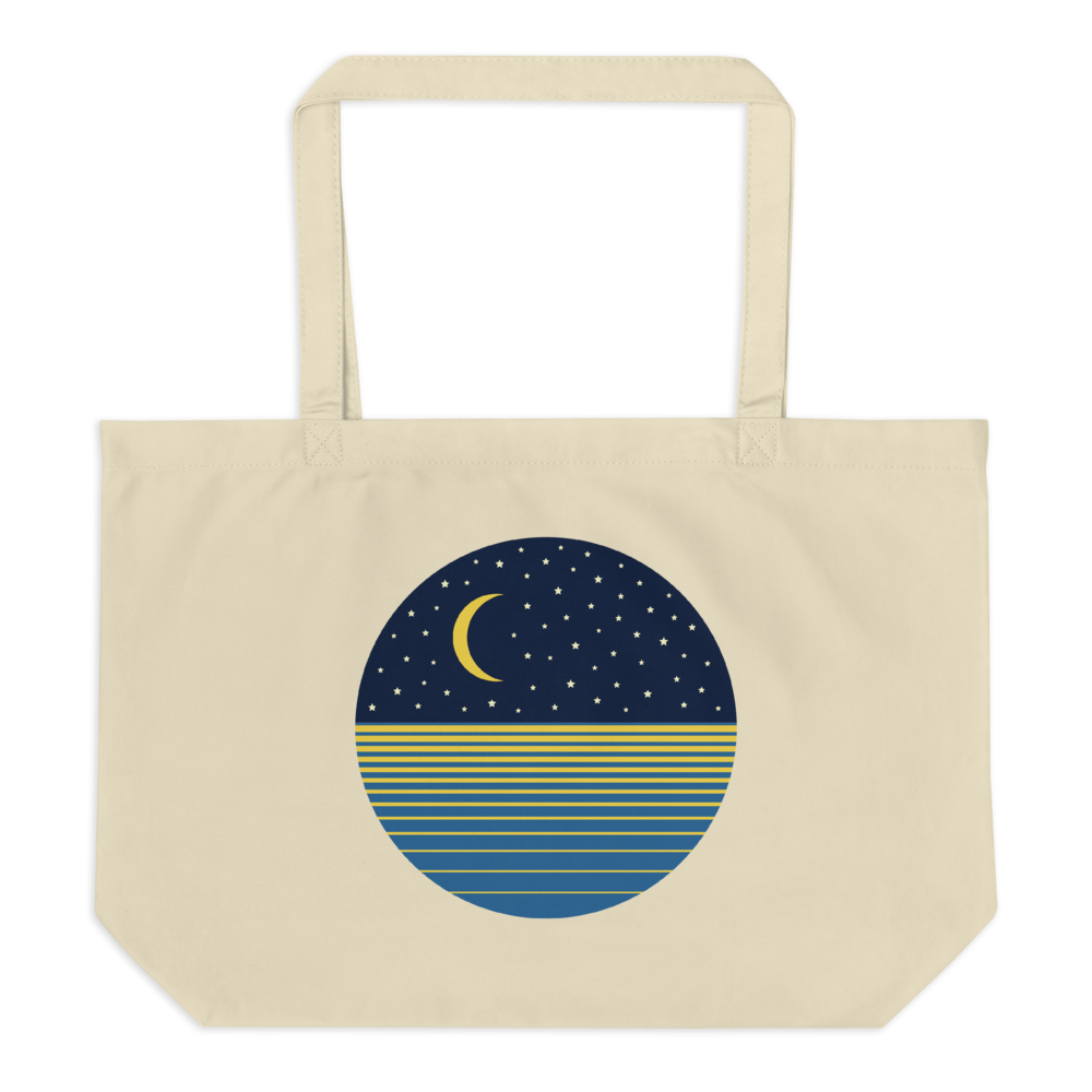 Ocean Moon Large Eco Tote Bag