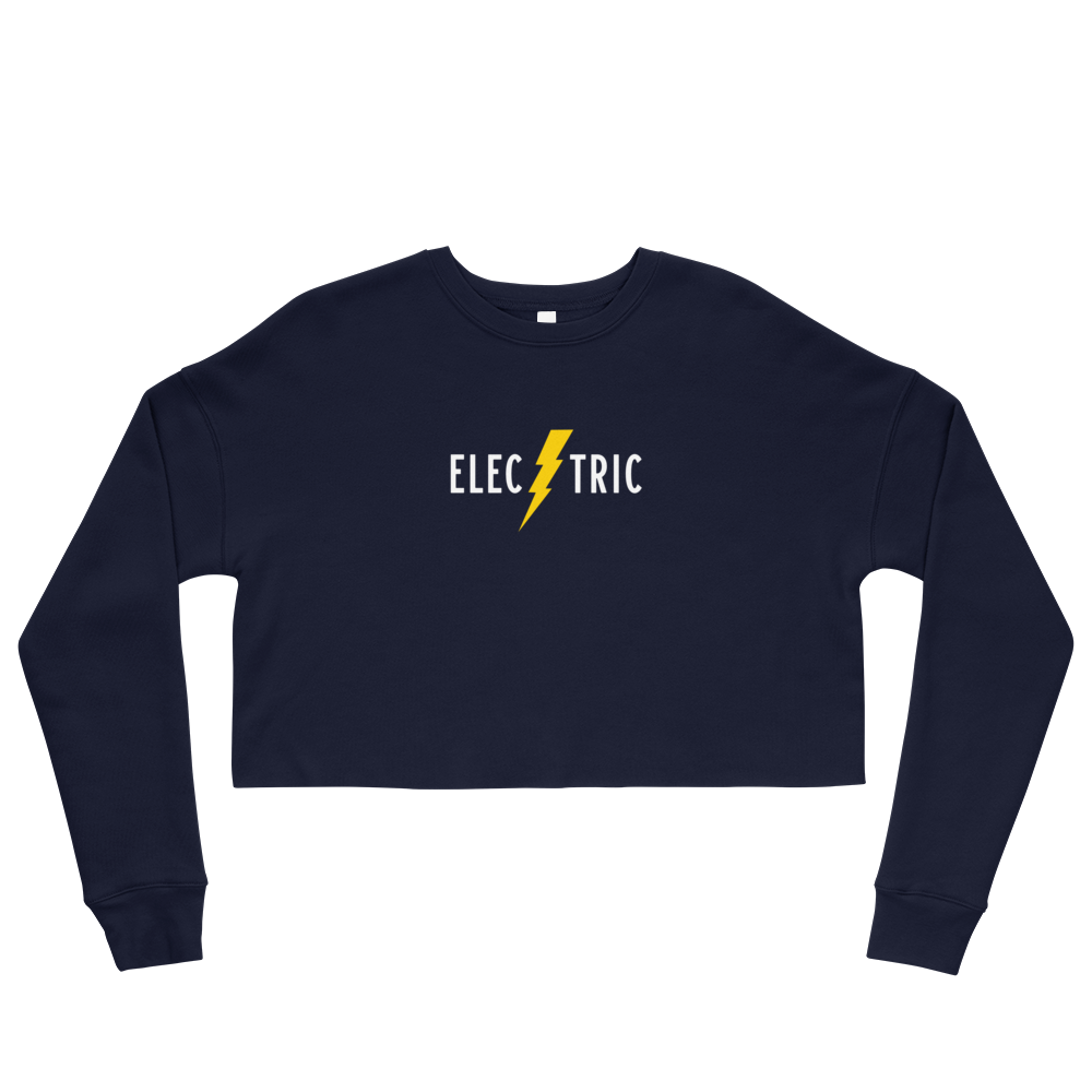 Electric Women's Cropped Sweatshirt