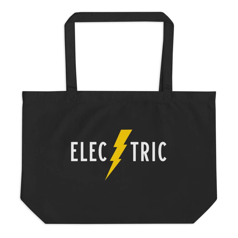 Electric Large Organic Tote Bag