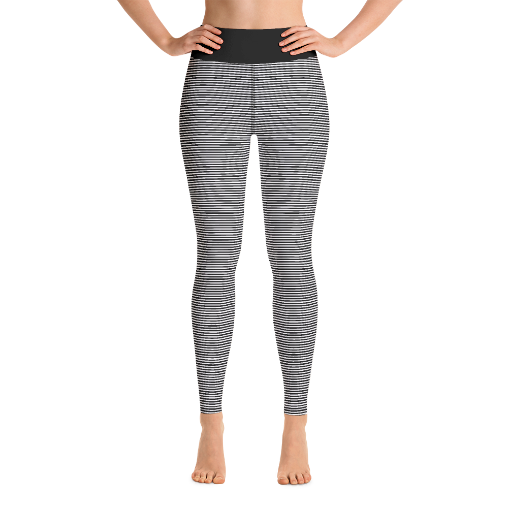Black Stripes Yoga Leggings