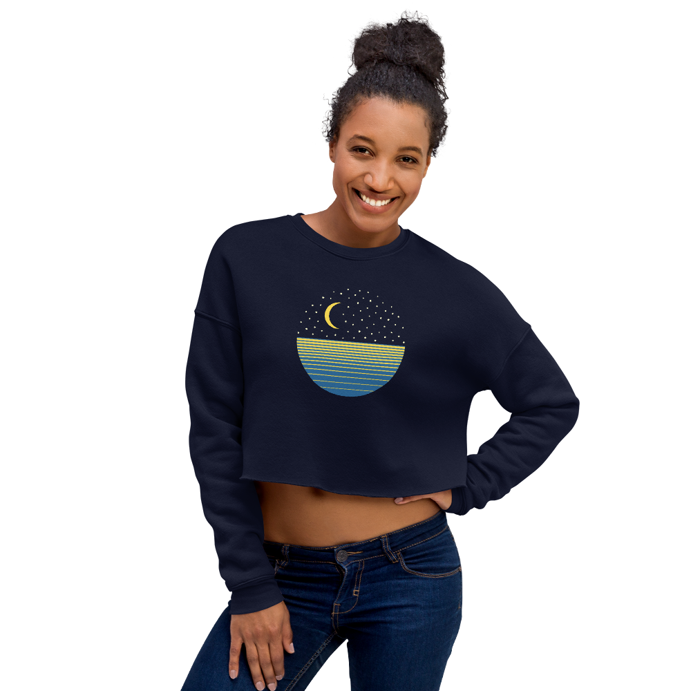 Ocean Moon Cropped Sweatshirt