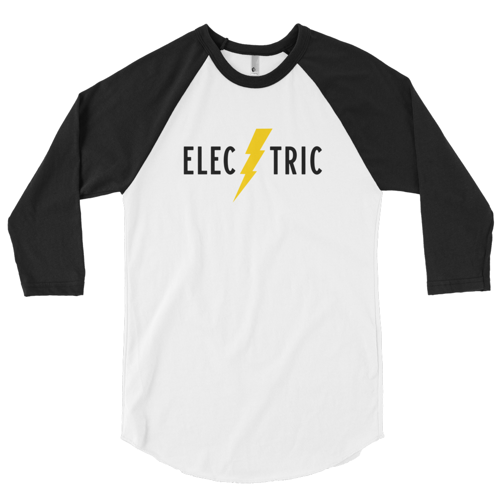 Electric 3/4 Sleeve Raglan Tee