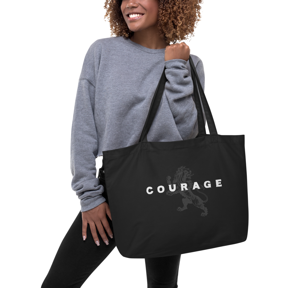 Courage Large Organic Tote Bag