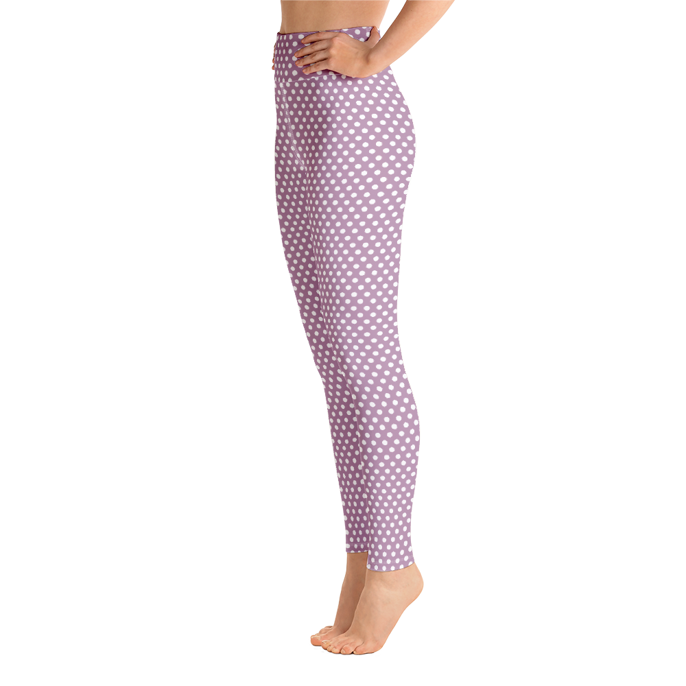 Lilac Dots Yoga Leggings