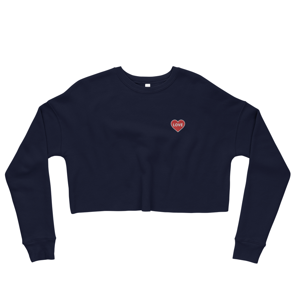 Love Women's Embroidered Cropped Sweatshirt
