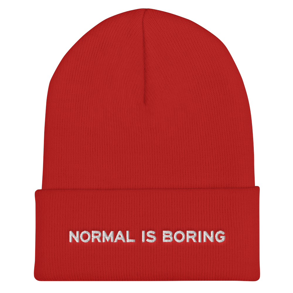 Normal is Boring Hipster Beanie