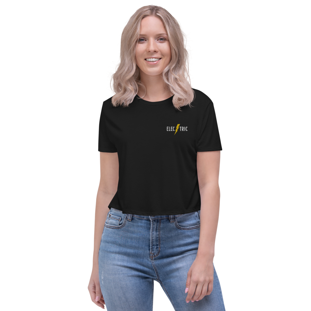 Electric Women's Embroidered Crop Tee