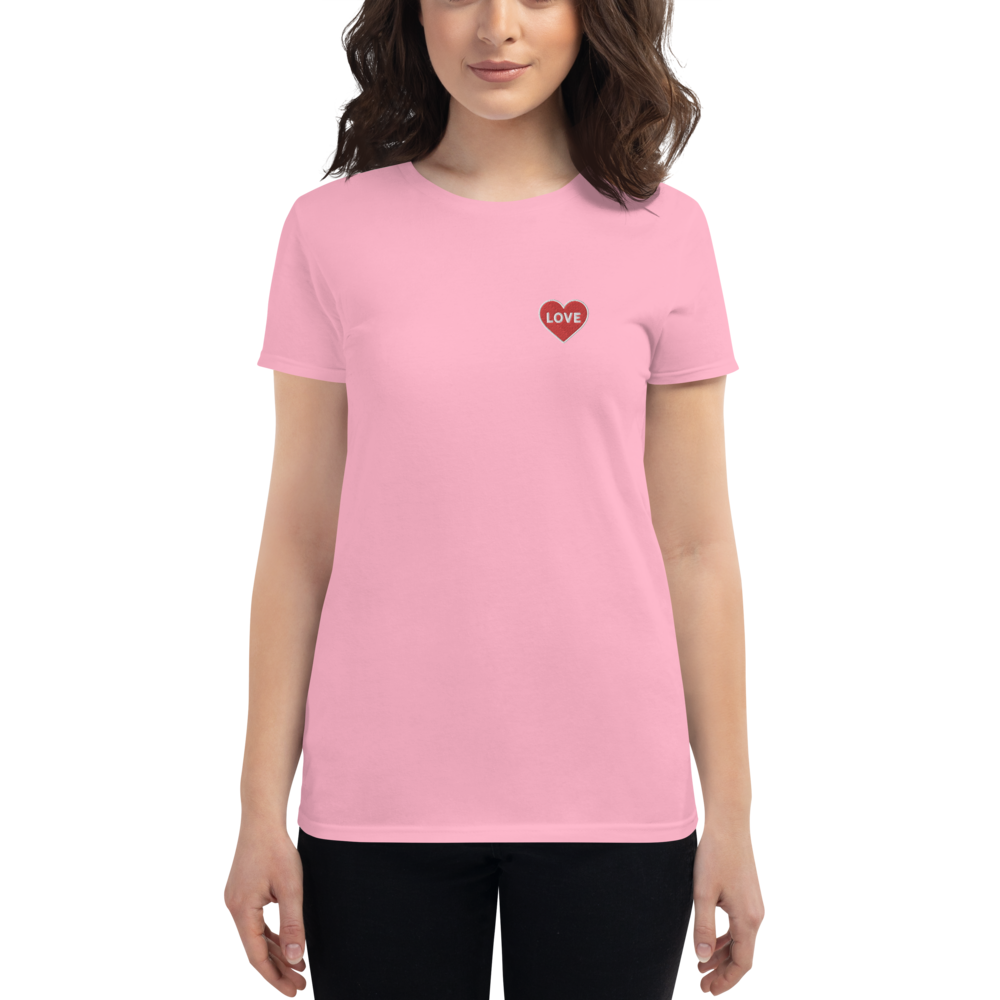 Love Women's Embroidered Short Sleeve T-Shirt