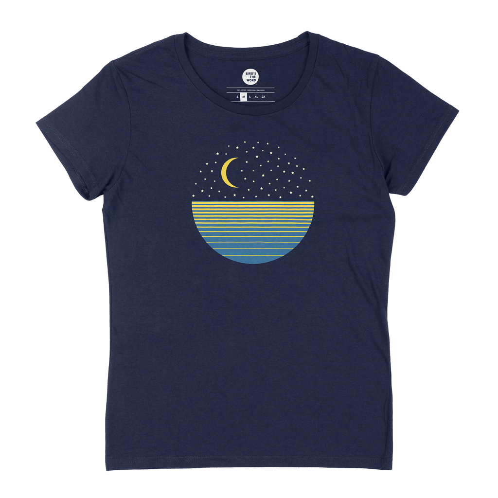 Women's Ocean Moon Short Sleeve T-Shirt
