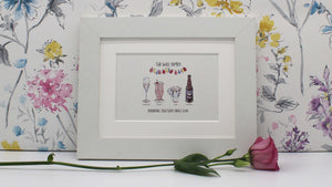 Paited drinks personalised family print