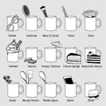 Retro type personalised friends mug print options