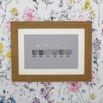 Retro type personalised friends mug print