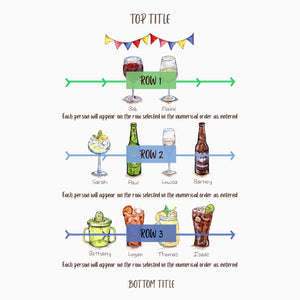 Painted drinks personalised family tree drinks print instructions