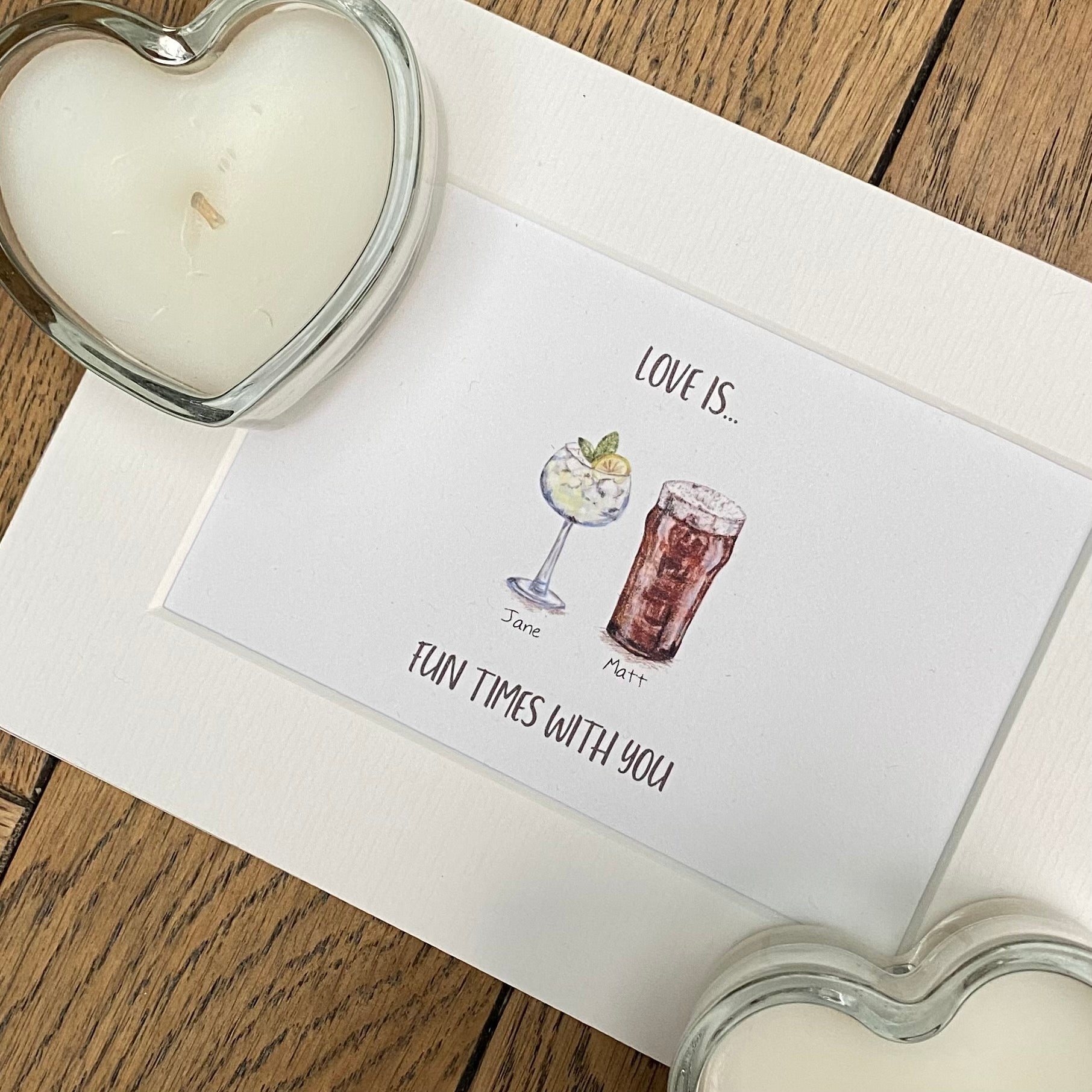 Personalised Valentines - Love is... Print