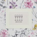 Painted drinks hand painted prosecco friends print