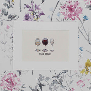 Painted Drinks Grape Therapy Print