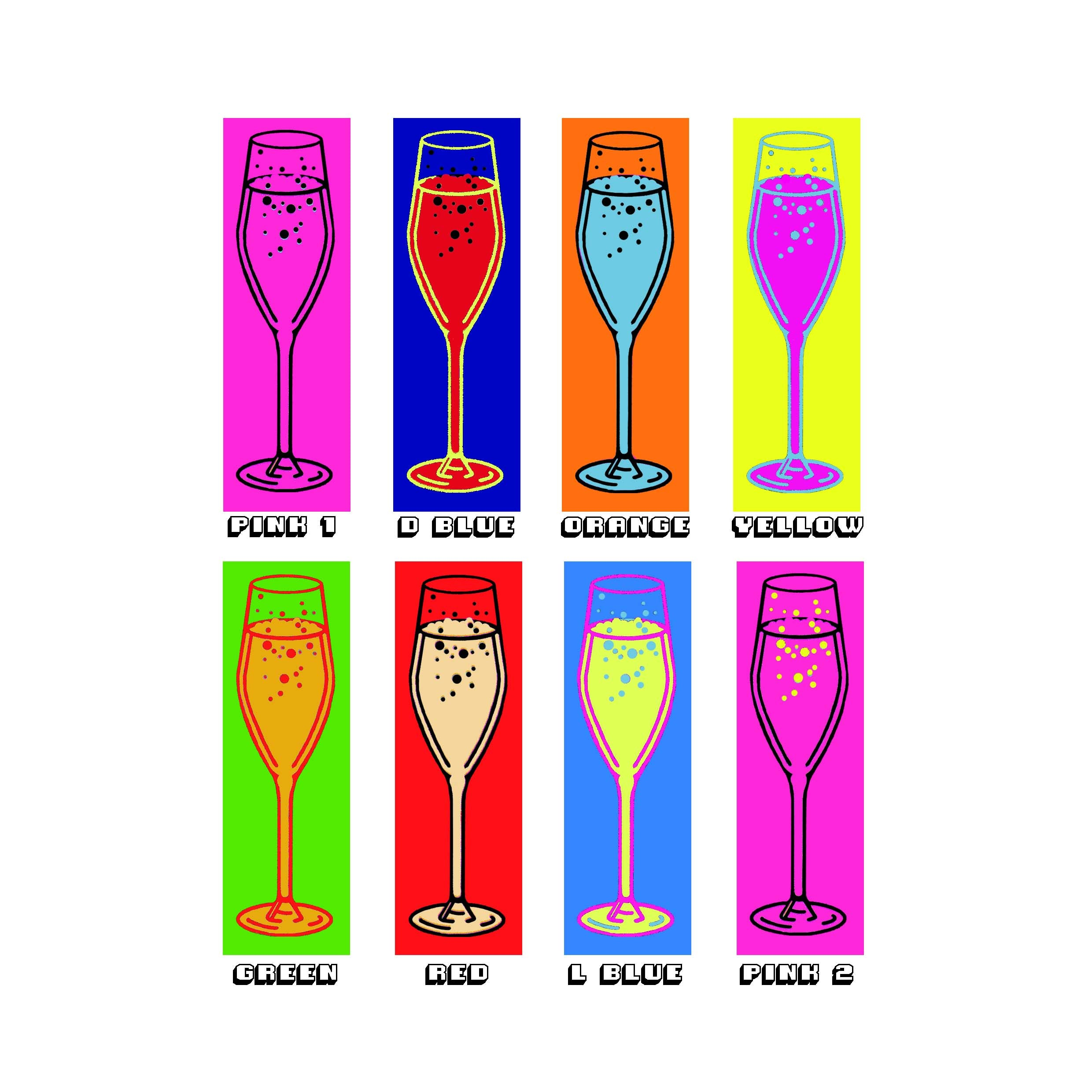 Prosecco pop personalised friends print options