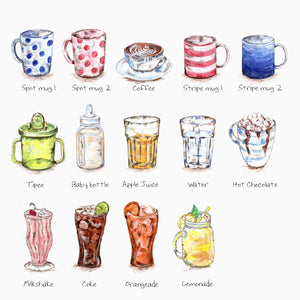 Personalised Favourite Drink Print
