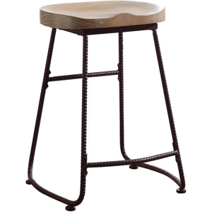 "Backless Bar Stool Driftwood - 24"" - HER Home Design"