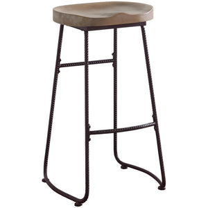 "Backless Bar Stool Driftwood - 30"" - HER Home Design"
