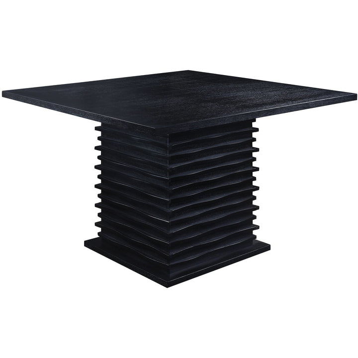 Geometric Base Pub Dining Table in Black - HER Home Design
