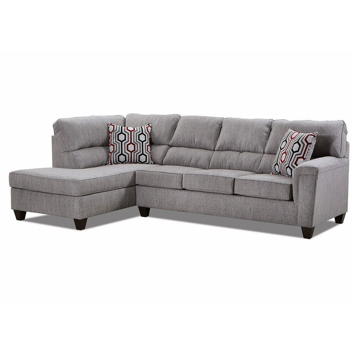 Two-Piece Sectional in Gray - HER Home Design
