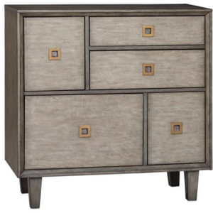 5-Drawer Accent Cabinet Weathered Grey