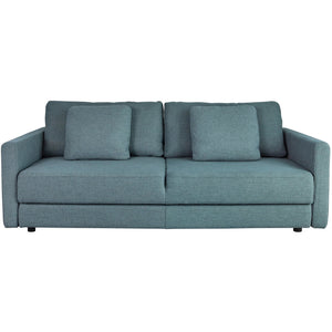 Linen Sleeper Sofa in Teal Blue - HER Home Design