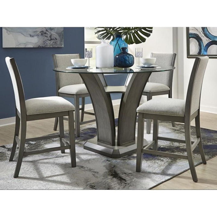Modern Grey Pub Table Set - 5 PC - HER Home Design