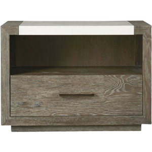 Wilshire Nightstand in Charcoal - HER Home Design