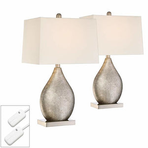 Teardrop Metal Lamps Set of 2 with Dimmers