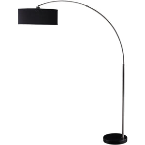 Arched Floor Lamp in Black - HER Home Design