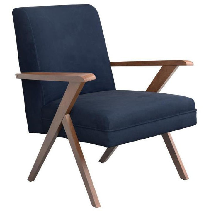 Mid-Mod Accent Chair in Navy - HER Home Design