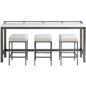 Bar and Game Room Essence Console Table with Stools - HER Home Design