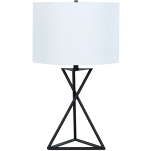Geometric Drum Table Lamp - HER Home Design