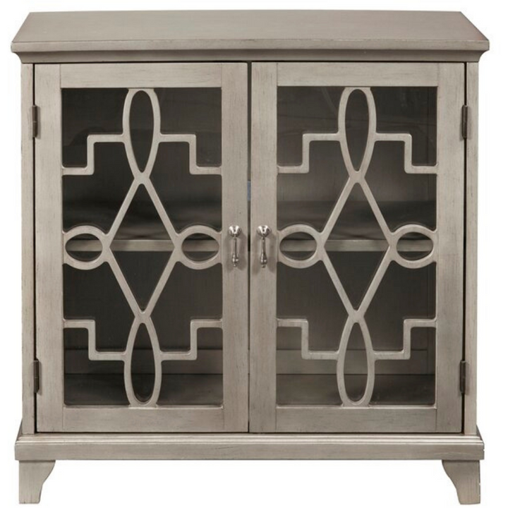 Decorative Accent Cabinet in Gray