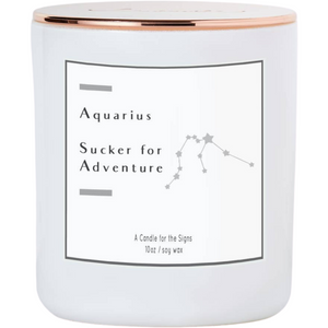 Aquarius - Sucker for Adventurer - Luxe Scented Soy Candle