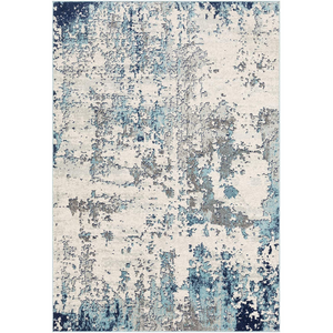 Artist Area Rug, 9' x 12' in Blue Tones