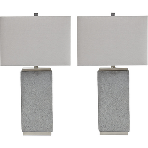 Faux Stone Table Lamps (Set of 2)