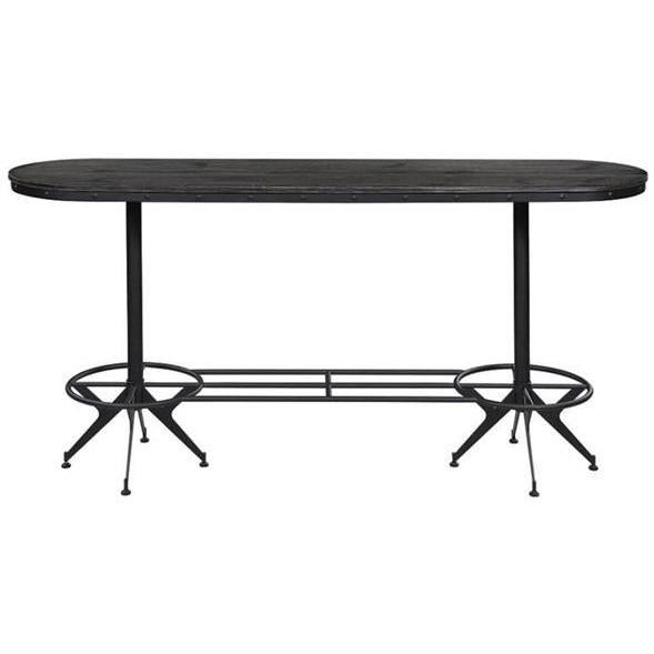 Oval Bar Table Wire Brushed Black - HER Home Design